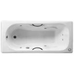 Roca 6JET231570 1.5米 Malibu 鑄鐵浴缸 連6噴咀按摩系統