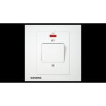 Siemens 西門子 5TA13623PC01 32A 單位雙極開關(帶霓虹燈指示器)(白)