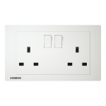 Siemens 西門子 5UB13223PC01 13A Twin Gang Switched Socket with Indicator (white)