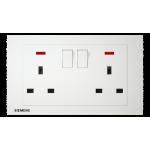 Siemens 西門子 5UB13233PC01 13A 雙位開關插座(帶霓虹燈指示器)(白)