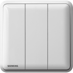 Siemens 西門子 5TA01313PC01 10AX 三位單控開關掣 (白)
