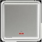 Siemens 西門子 5TA01613PC02 20A 單位雙極開關掣 帶霓虹燈指示器(銀)