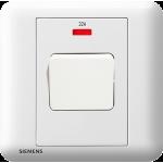 Siemens 西門子 5TA01623PC01 32A 單位雙極開關掣 帶霓虹燈指示器(白)