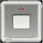 Siemens 西門子 5TA01623PC02 32A 單位雙極開關掣 帶霓虹燈指示器(銀)