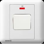 Siemens 西門子 5TA01633PC01 45A 單位雙極開關掣 帶霓虹燈指示器(白)