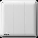 Siemens 西門子 5TA01333PC01 10AX 三位雙控開關掣 (白)