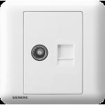 Siemens 西門子 5UH01333PC01 電視插座 5-850MHZ + 電話插座 RJ11(白)