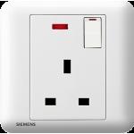 Siemens 西門子 5UB01133PC01 13A單位開關插座-帶霓虹燈指示器 (白色)