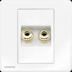 Siemens 西門子 5UH81813PC01 雙接線音響插座(白)