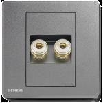 Siemens 西門子 5UH81813PC05 雙接線音響插座(灰)