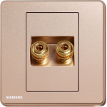 Siemens 西門子 5UH81813PC04 雙接線音響插座(金)