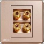 Siemens 西門子 5UH81823PC04 四接線音響插座 (金)