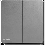 Siemens 西門子 5TA81223PC05 16AX 雙位單控開關掣 (銀灰色)
