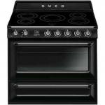 Smeg TR90IBL 90厘米 全座式焗爐 (黑色) (五頭電磁爐 126公升電焗爐)